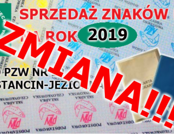 Sprzedaż Znaków na rok 2019