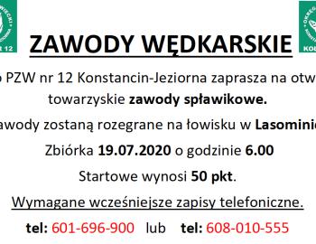 Towarzyskie Zawody Spławikowe, Lasomin 19.07.2020